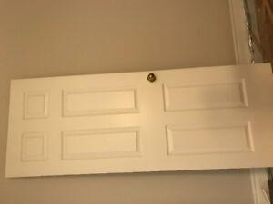 Five solid wood 6-panel interior doors