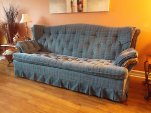Sofa bed and matching chair