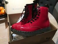 Boxed perfect condition childs size 13 red Dr Martens