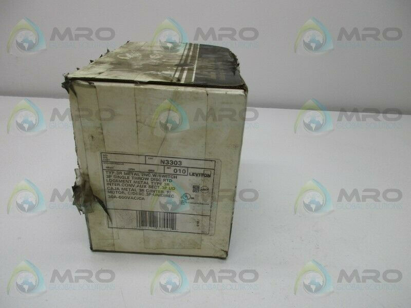 LEVITON N3303 MANUAL MOTOR STARTER * NEW IN BOX *