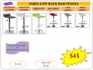 BAR STOOLS- BRAND NEW- WAREHOUSE SALE- MANY MODELS & COLORS