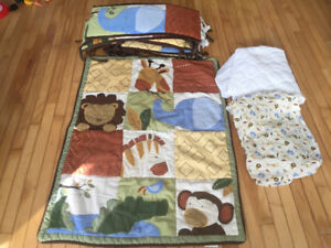 Jungle theme crib bedding