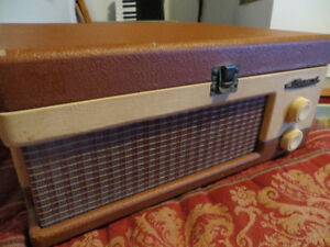 Vintage Marconi record player and old radio