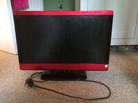 """Technica 23""""tv and dvd combi in red"""
