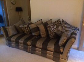 Barker and stonehouse Austina 4 seater and two seater cuddle chair and storage footstool