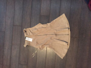NEW SUEDE SLEEVELESS TOP SMALL