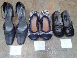 Various girl's shoes and boots, women's shoes