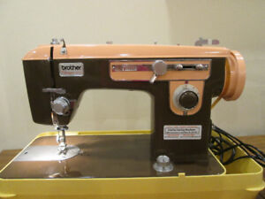 Vintage Brother Charger Sewing Machine, Chocolate & Pink