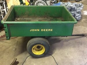 John Deere utility trailer with dump hitch
