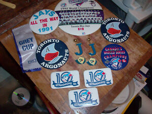 TORONTO BLUE JAYS & ARGONAUTS VINTAGE COLLECTIBLES