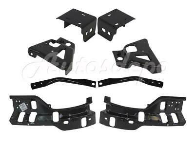 Front Bumper Impact Inner Outer Bracket Brace 8Pcs For Silverado 2500HD 2011-14
