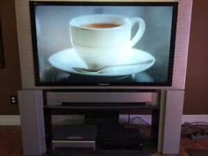 50 inch Panasonic DSP television and TV stand