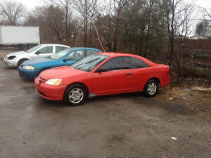 2002 Honda Civic $1200 obo as is need bit to cert