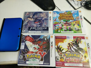 Nintendo 3DS + CHARGER + Pokemon Y/Omega Ruby/Etc