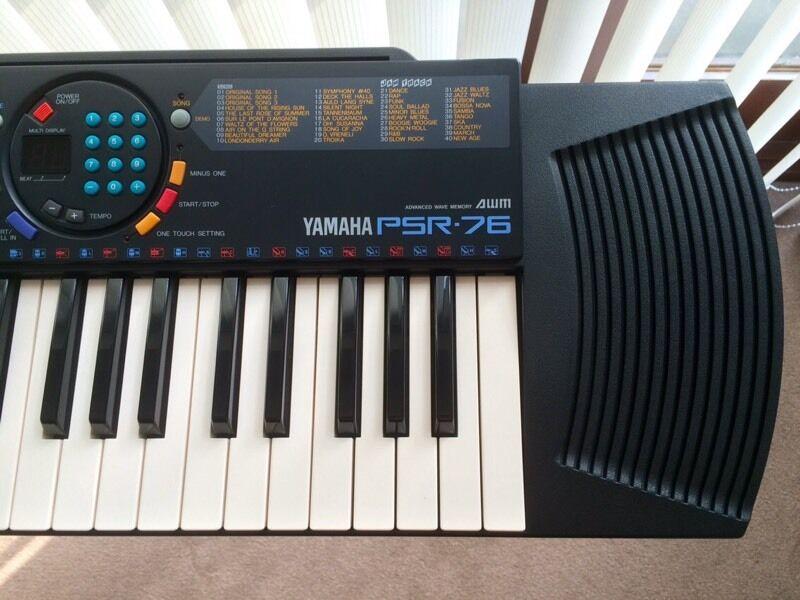 Yamaha psr 76 keyboard with stand in ilkeston for Yamaha psr stand