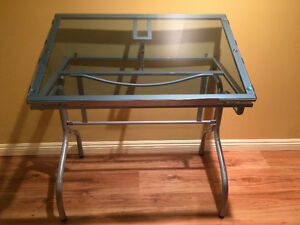 Folding Glass Drafting Table/Desk