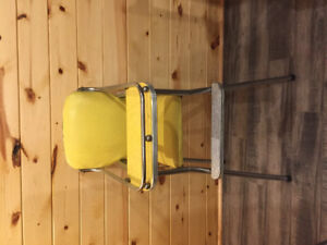 New baby gate and vintage high chair