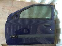 Renault Clio MK2 front N/S door blue OV460