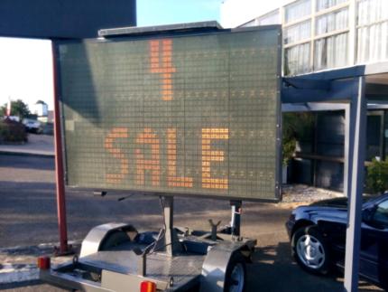 LED sign board trailer