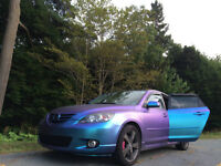 One of a kind plastic dipped Mazda 3! 5400 OBO Need Gone
