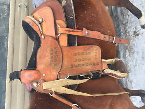 """16"""" rope saddle for sale"""