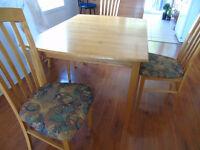 Table et Chaises en bois d'érable 6 places