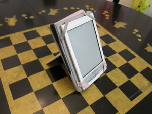 Sony PRS-T1 e-reader with Tuv Luv case, screen protector
