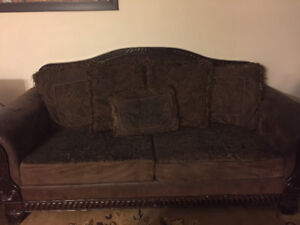 Sofa, love seat, coffee table, 2 night stands, dining room table
