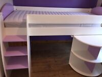 Stompa cabin bed cream and purple