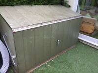 Garden storage container metal