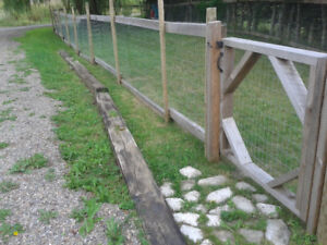 Wood and galvanized metal fence for sale