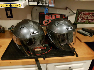 HJC IS-33 helmets with J&M headsets