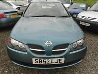2003 NISSAN ALMERA 1.5 S 5drMOT OCTOBER 2017, IDEAL 2ND VEHICLE.