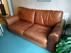 Fantastic, very large, leather sofa.