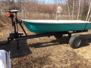 12 Ft Fiberglass Boat and Ultimate Woods Trailer