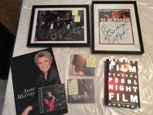 Music and author signed items
