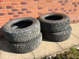 4 x General Grabber all terrain tyres