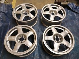"17"" Racelite Alloy wheels 4x108 Ford focus sierra fiesta rs cosworth"