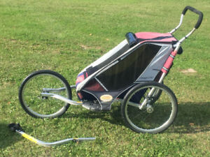 Chariot Cougar 2000 Jogging Stroller with Bike attachment