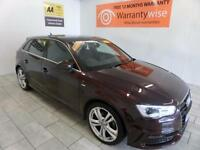 2013 Audi A3 1.6TDI ( 105ps ) Sportback S Line ***BUY FOR ONLY £64 PER WEEK***