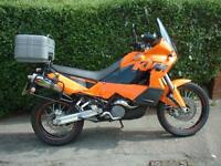 KTM 950 ADVENTURE MOTORCYCLE IN ORANGE