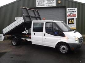 Ford Transit 2.4TDCi Duratorq ( 115PS ) Double cab tipper *Ex Council 61k miles*