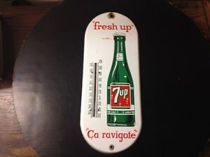 THERMOMETRE VINTAGE - 7UP - VINTAGE THERMOMETER
