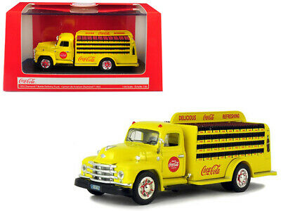 "1955 Diamond T Bottle Delivery Truck ""Coca-Cola"" Yellow 1/50 Diecast Model Car"