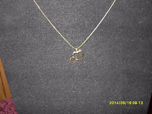 """10kt yellow gold """"Double Heart"""" Pendant (Chain not included)"""