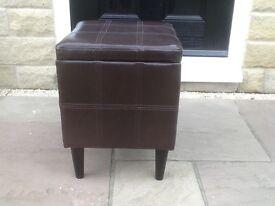 Dark brown footstool