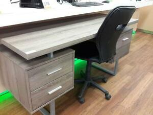 *** USED *** MONARCH DARK TAUPE DESK WITH CHAIR   S/N:51199099   #STORE219
