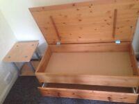 Pine table/storage box