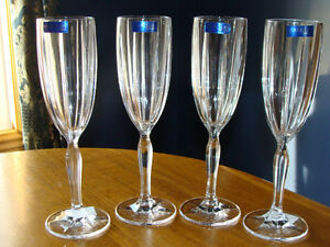 4 MARQUIS OMEGA WATERFORD CRYSTAL CHAMPAGNE FLUTES London Ontario image 1