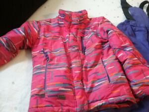 Girls Size 8 Winter coat and Ski pants set